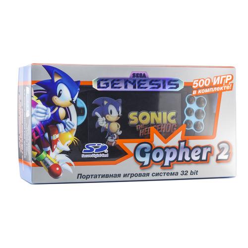 Фото - Игровая консоль RETRO GENESIS Gopher 2 500 игр, черный/синий игровая консоль retro genesis modern 170 игр два джойстика черный