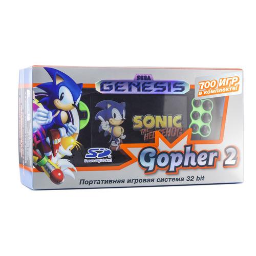 Фото - Игровая консоль RETRO GENESIS Gopher 2 700 игр, черный/зеленый игровая консоль retro genesis modern 170 игр два джойстика черный