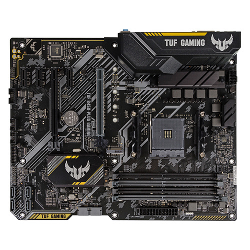 Материнская плата ASUS TUF B450-PLUS GAMING, SocketAM4, AMD B450, ATX, Ret материнская плата asus tuf b450 pro gaming socketam4 amd b450 atx ret