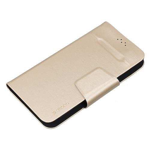 """Чехол (флип-кейс) DEPPA Wallet Fold, для универсальный 5.5-5.7"""", золотистый [87041] deppa чехол подставка для смартфонов универсальный wallet fold m"""