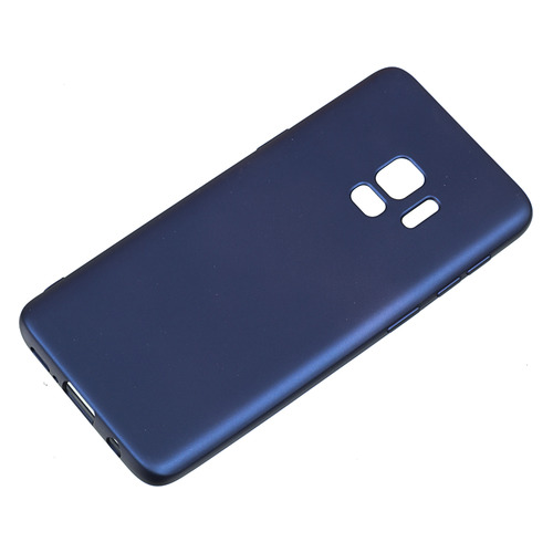 Чехол (клип-кейс) DEPPA Case Silk, для Samsung Galaxy S9, синий [89002] чехол клип кейс deppa для samsung galaxy s9 case silk 1083764 синий 89002