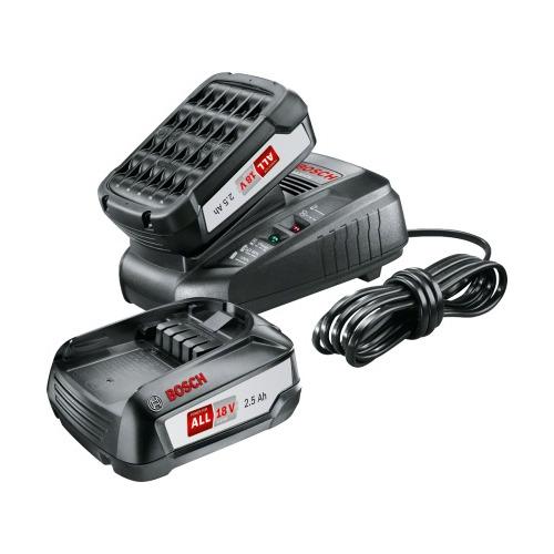 Фото - Батарея аккумуляторная Bosch PBA + AL 1830 CV 18В 2.5Ач Li-Ion (З/У в компл.) (1600A011LD) набор bosch аккумулятор 18в 6ач li ion pba 1600a00dd7 рюкзак 1 619 m00 k04
