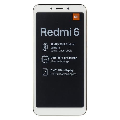 Смартфон XIAOMI Redmi 6 4/64Gb, золотистый