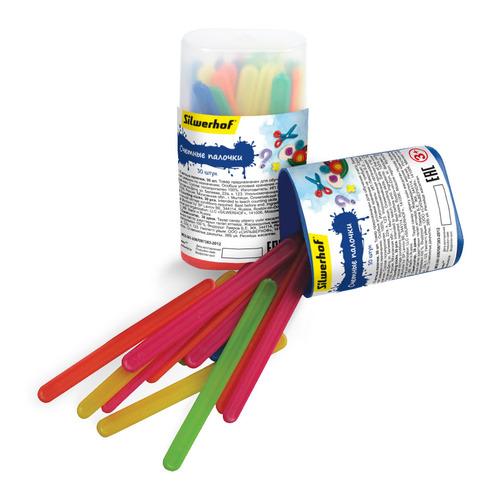 Счетные палочки Silwerhof 459385/670612-30 30шт пластик цв.ассорт. плас.пенал 10 шт./кор. цена в Москве и Питере