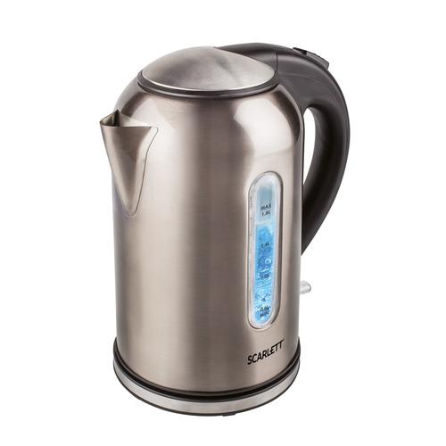 Чайник электрический SCARLETT SC-EK21S64, 2200Вт, серый цена и фото