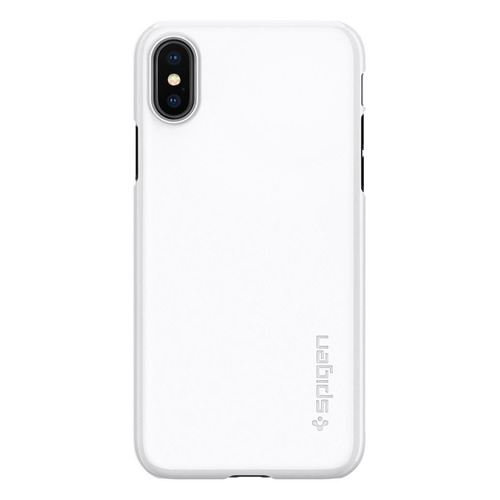 Чехол (клип-кейс) Spigen Thin Fit, для Apple iPhone X, белый [057cs22112] чехол клип кейс spigen crystal hybrid glitter для apple iphone x серый [057cs22148]