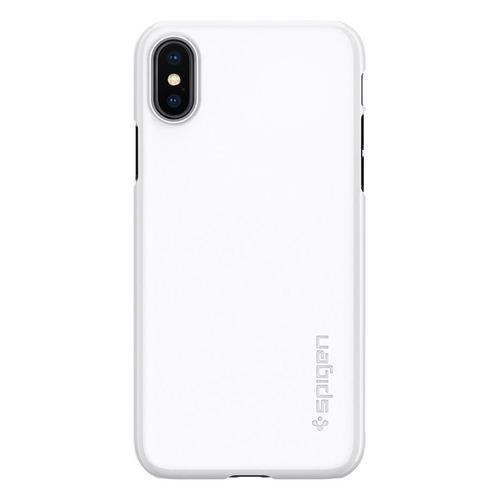 Чехол (клип-кейс) SPIGEN Thin Fit, для Apple iPhone X, белый [057cs22112]