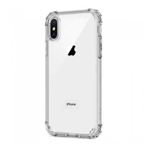 Чехол (флип-кейс) Spigen Crystal Shell, для Apple iPhone X, прозрачный [057cs22141] чехол клип кейс spigen crystal hybrid glitter для apple iphone x серый [057cs22148]