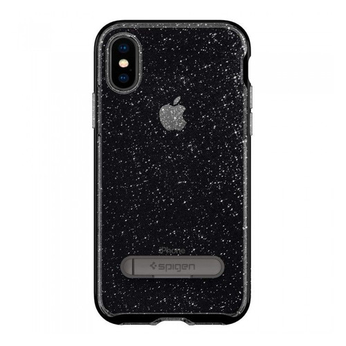 Чехол (клип-кейс) Spigen Crystal Hybrid Glitter, для Apple iPhone X, серый [057cs22148] аксессуар чехол для apple iphone x ibox crystal silicone transparent