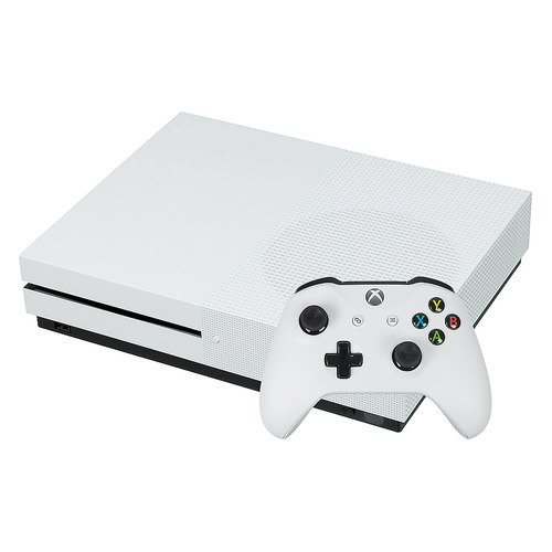 лучшая цена Игровая консоль MICROSOFT Xbox One S с 1 ТБ памяти, Абонемент Xbox Game Pass сроком на 3мес. и Золотой статус Xbox Live Gold на 3мес., 234-00357, белый