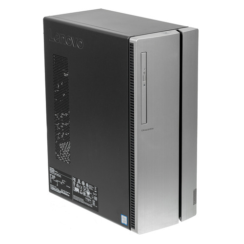 Компьютер LENOVO IdeaCentre 510-15ICB, Intel Core i3 8100, DDR4 4Гб, 1000Гб, Intel UHD Graphics 630, DVD-RW, CR, Free DOS, серебристый [90hu006ars] lenovo ideacentre 510 23ish f0cd008trk белый 6гб windows intel core i3