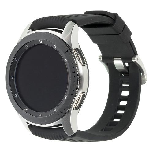 Смарт-часы SAMSUNG Galaxy Watch 46мм, 1.3, серебристый / черный [sm-r800nzsaser] смарт часы samsung galaxy fit e 0 74 pmoled черный sm r375nzkaser