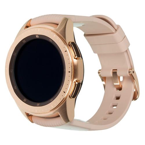 Смарт-часы SAMSUNG Galaxy Watch 42мм, 1.2, розовое золото / розовое золото [sm-r810nzdaser]