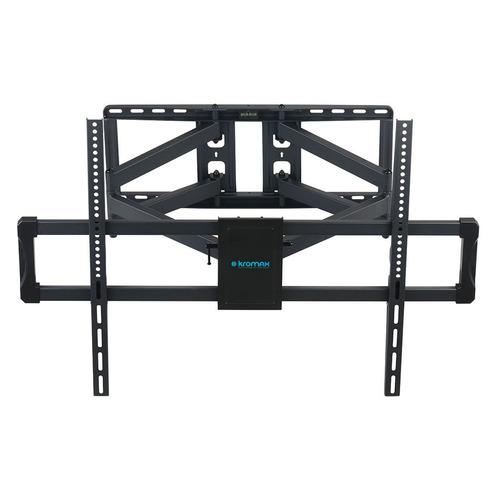 Фото - Кронштейн для телевизора Kromax ATLANTIS-75 черный 40-90 макс.101кг настенный поворотно-выдвижной лестница стремянка сибин 38803 09 стальная 9 ступеней 187см