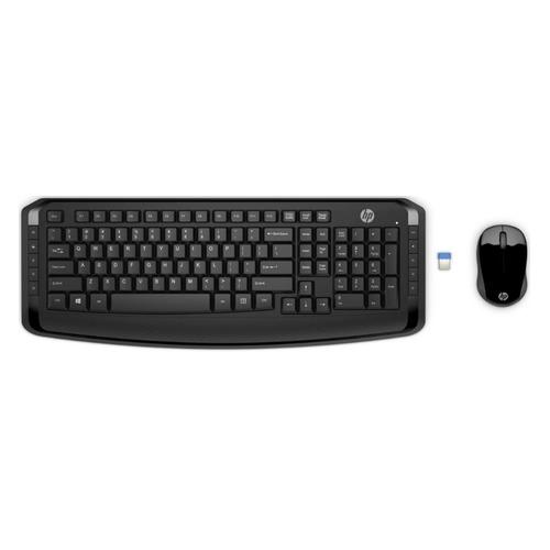 Комплект (клавиатура+мышь) HP 300, USB, беспроводной, черный [3ml04aa] мышь беспроводная hp 200 silk золотистый чёрный usb 2hu83aa