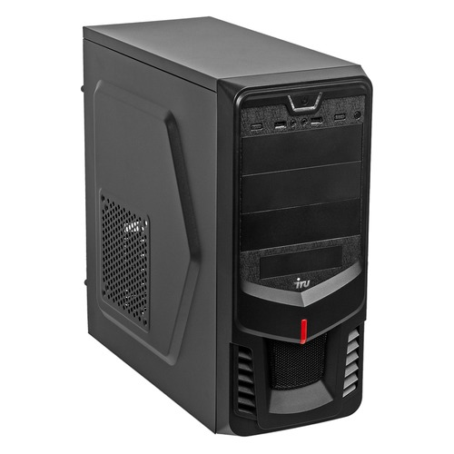 Компьютер IRU Home 228, AMD A8 9600, DDR4 4Гб, 1000Гб, AMD Radeon R7, Windows 10 Professional, черный [1086771] процессор amd am4 a8 9600 box 3 1 ггц 2мб