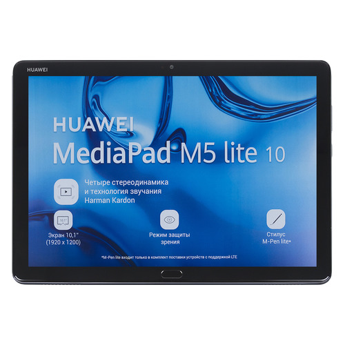 Планшет HUAWEI MediaPad LTE M5 10.0 Lite, 3Гб, 32GB, 3G, 4G, Android 8.0 серый [53010djx] lot of 10pcs unlocked aircard ac790s 4g mobile hotspot sierra wireless lte cat6 300m portable wifi router plus 49dbi 4g antenna