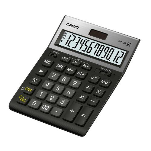 Калькулятор CASIO GR-120, 12-разрядный, черный