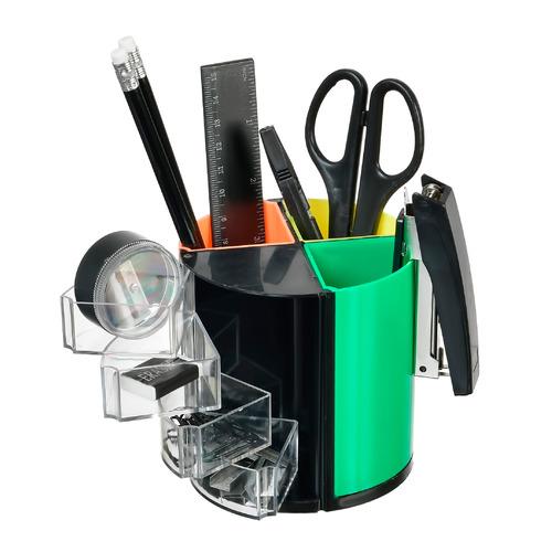 Настольный набор SILWERHOF пластик, 10 предметов, черный [172017-01] цена