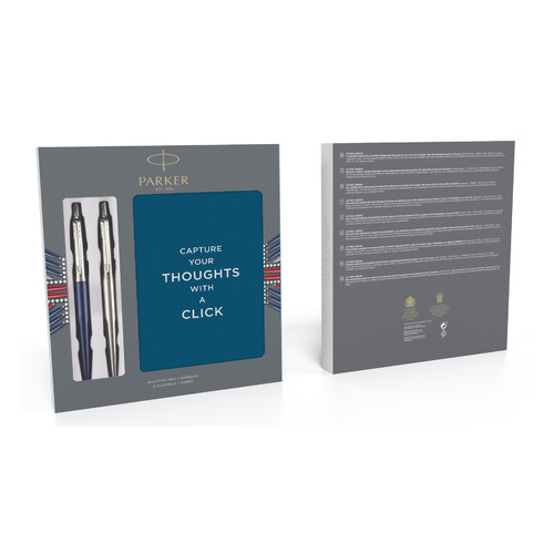 Набор Parker Jotter Core K61/К63 (2062782) Stainless Steel CT/Waterloo Blue CT (9шт) дисплей цены онлайн