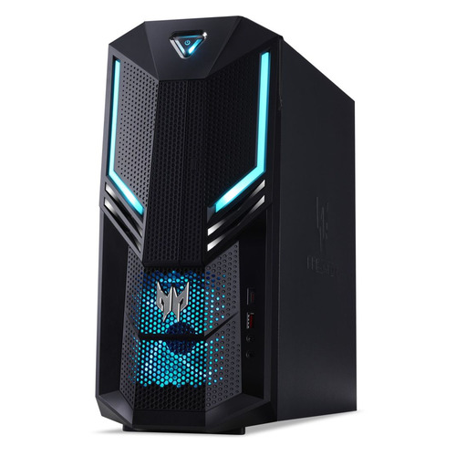 Компьютер ACER Predator PO3-600, Intel Core i7 8700, DDR4 16Гб, 2Тб, 256Гб(SSD), NVIDIA GeForce RTX 2070 - 8192 Мб, Linux, черный [dg.e14er.004] компьютер msi vortex g25 8re 033ru intel core i7 8700 ddr4 16гб 1000гб 256гб ssd nvidia geforce gtx 1070 8192 мб windows 10 черный [9s7 1t3111 033]