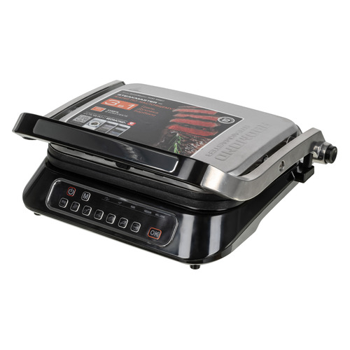 Электрогриль REDMOND SteakMaster RGM-M807, черный и серебристый