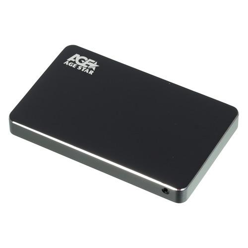 Внешний корпус для HDD/SSD AGESTAR 3UB2AX1, черный внешний корпус для hdd agestar 3ub2p1 черный