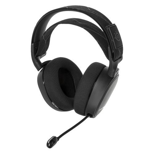 Гарнитура игровая STEELSERIES Arctis 7 2019 Edition, для компьютера и игровых консолей, мониторные, радио, черный [61505] гарнитура игровая logitech g533 для компьютера мониторы радио черный [981 000634]