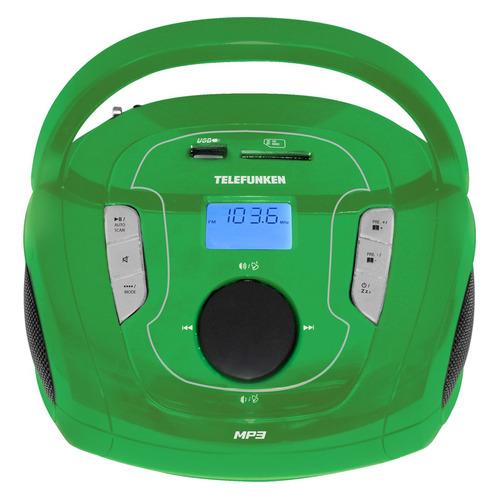 цена на Аудиомагнитола TELEFUNKEN TF-SRP3471B, зеленый