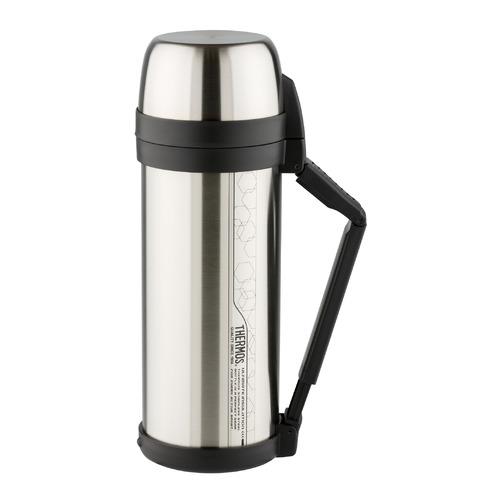 Термос THERMOS FDH Stainless Steel Vacuum Flask, 2л, стальной/ черный термос robens wilderness vacuum flask 700 мл