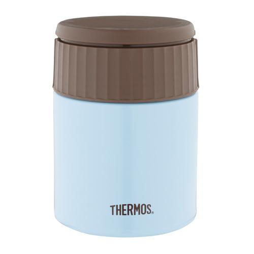 Термос THERMOS JBQ-400-AQ, 0.4л, голубой/ коричневый термос thermos jbq 400 mlk 0 4l