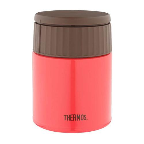 Термос THERMOS JBQ-400-PCH, 0.4л, красный/ коричневый термос thermos jbq 400 mlk 0 4l