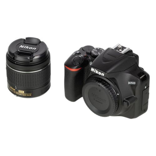 цена на Зеркальный фотоаппарат NIKON D3500 kit ( 18-55mm non VR AF-P), черный
