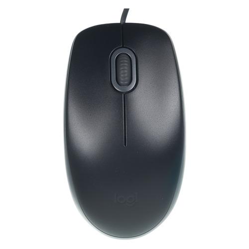 Мышь LOGITECH B110 SILENT, оптическая, проводная, USB, черный и серый [910-005508] цена 2017