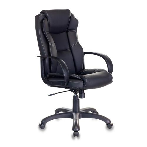 Кресло руководителя БЮРОКРАТ CH-839, на колесиках, искусственная кожа, черный [ch-839/black] кресло бюрократ ch 1399 на колесиках искусственная кожа серый [ch 1399 grey]