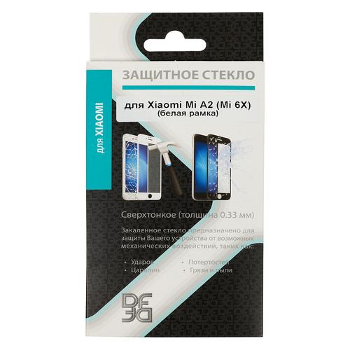 цена на Защитное стекло для экрана DF xiColor-28 для Xiaomi Mi A2/6X, 1 шт, белый [df xicolor-28 (white)]