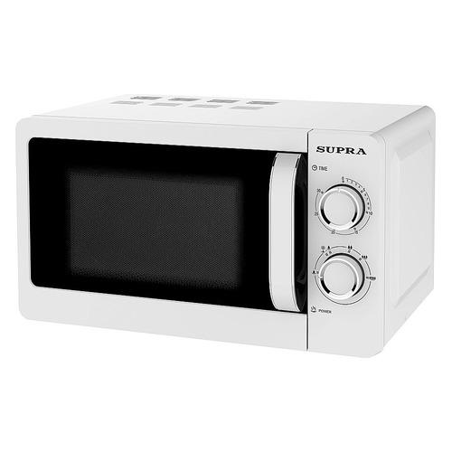 Фото - Микроволновая печь Supra 20MW55, 700Вт, 20л, белый микроволновая печь свч supra 20mw55