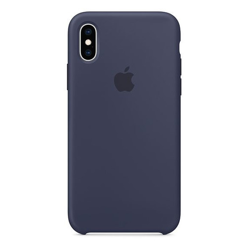 Чехол (клип-кейс) APPLE Silicone Case, для Apple iPhone XS, темно-синий [mrw92zm/a] цена