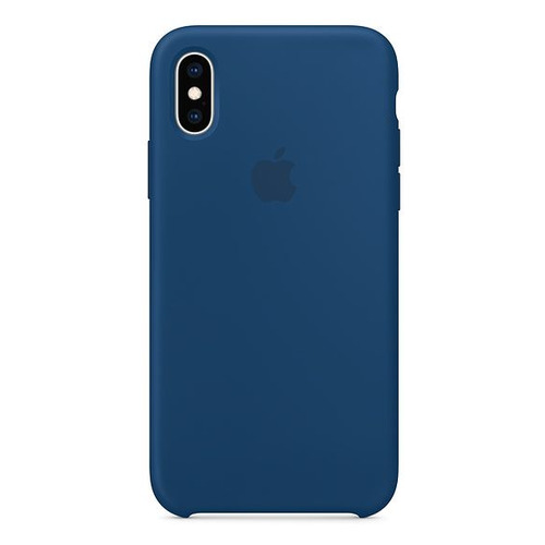 Чехол (клип-кейс) APPLE Silicone Case, для Apple iPhone XS, синий [mtf92zm/a] цена