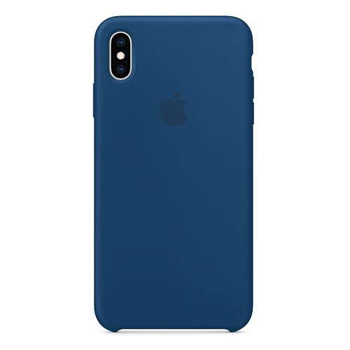 Чехол (клип-кейс) APPLE MTFE2ZM/A, для Apple iPhone XS Max, синий клип кейс guess silicone для apple iphone xs max черный
