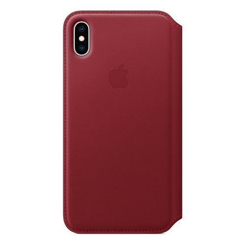Чехол (флип-кейс) APPLE Leather Case, для Apple iPhone XS Max, красный [mrx32zm/a] цена и фото
