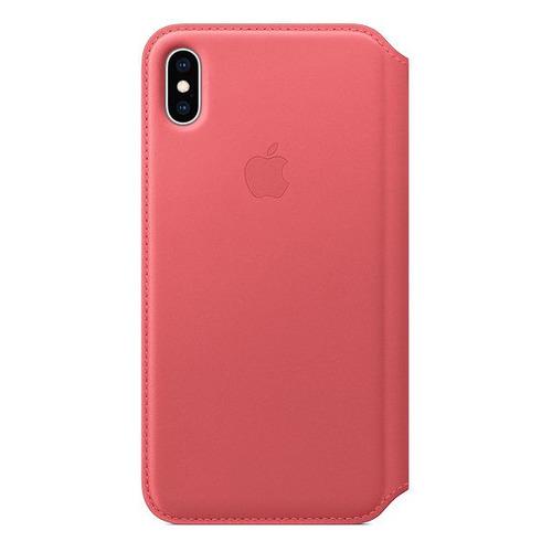 Чехол (флип-кейс) Apple Leather Case, для Apple iPhone XS Max, розовый [mrx62zm/a]