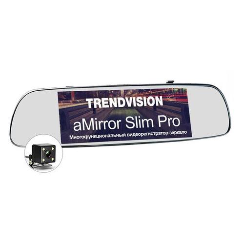 Видеорегистратор TRENDVISION aMirror Slim Pro, черный стоимость