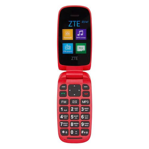 Мобильный телефон ZTE R341, красный zte f327 white мобильный телефон