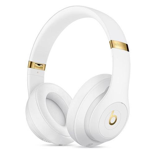 Наушники с микрофоном BEATS Studio3 Wireless, 3.5 мм/Bluetooth, мониторы, белый [mq572ee/a] цена 2017