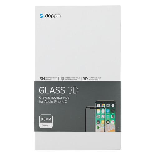 Защитное стекло для экрана DEPPA для Apple iPhone X/XS/11 Pro, 3D, 1 шт, черный [62393] цена и фото
