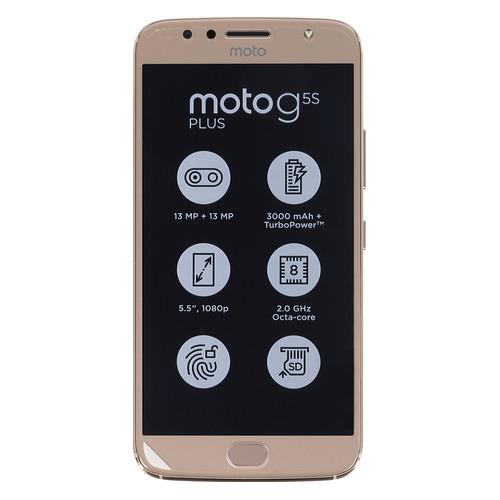 Смартфон MOTOROLA G5S Plus 32Gb, XT1803, золотистый goowiiz роскошь телефон дело для motorola moto g5s g5s plus hd акрилового стекла tpu силикон предотвратить падение полная защита