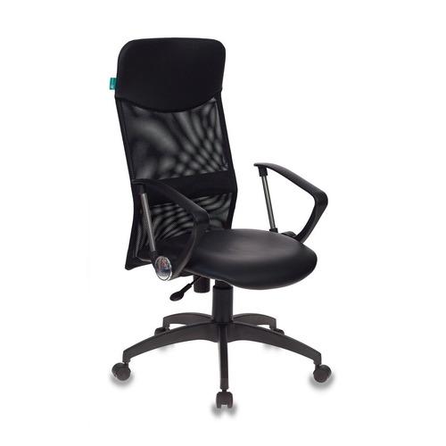 Кресло руководителя БЮРОКРАТ СН-600AXSN, на колесиках, искусственная кожа, черный [ch-600axsn/or-16] цена 2017