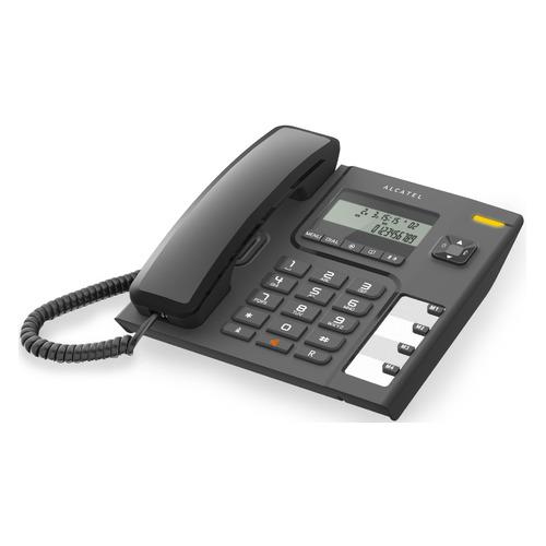 Проводной телефон ALCATEL T56, черный partner чехол flip case alcatel 5036 pop c5 черный