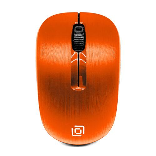 Мышь OKLICK 525MW, оптическая, беспроводная, USB, оранжевый [525mw or] мышь беспроводная hp 200 silk золотистый чёрный usb 2hu83aa